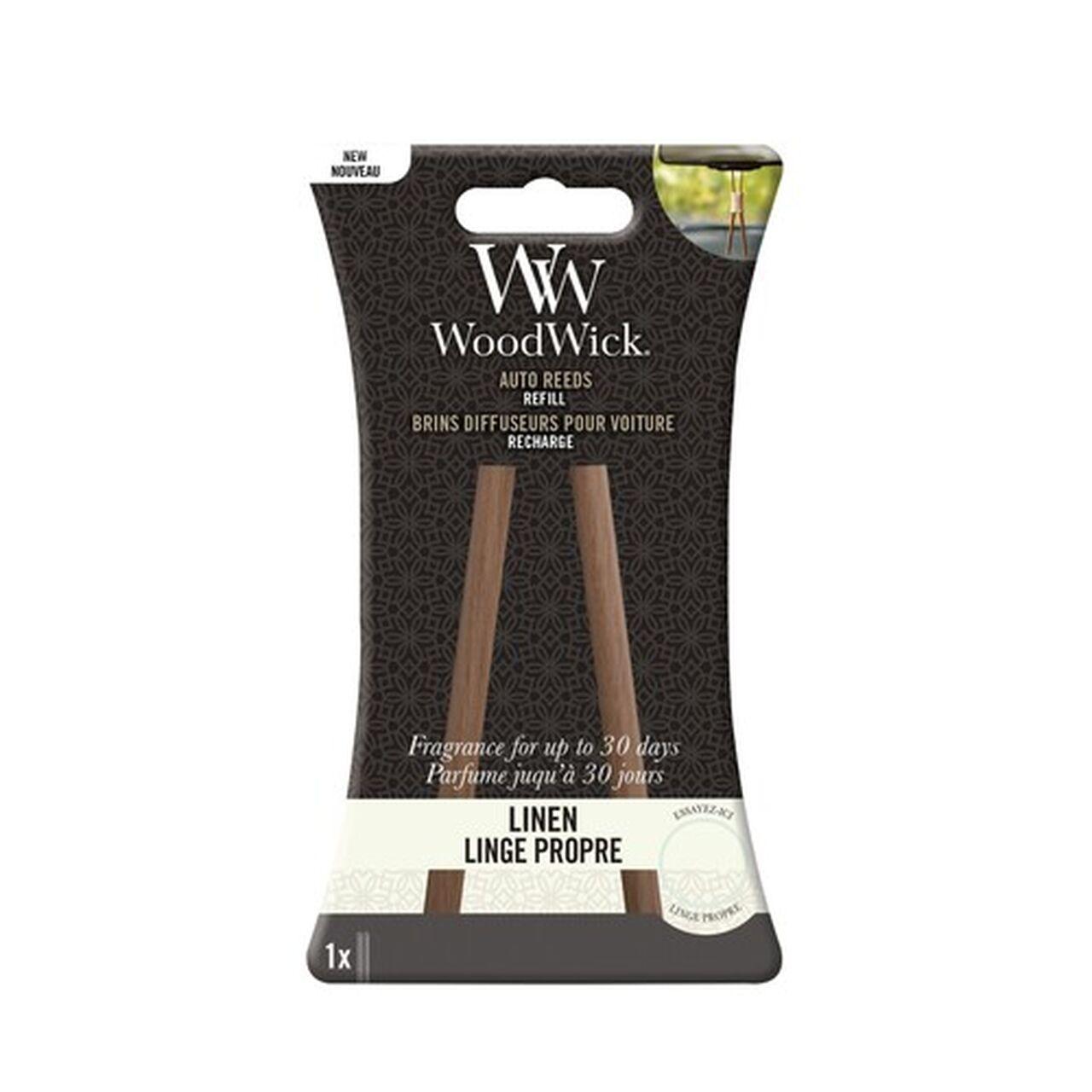 WoodWick Auto Reeds Linen Nachfüll Pack