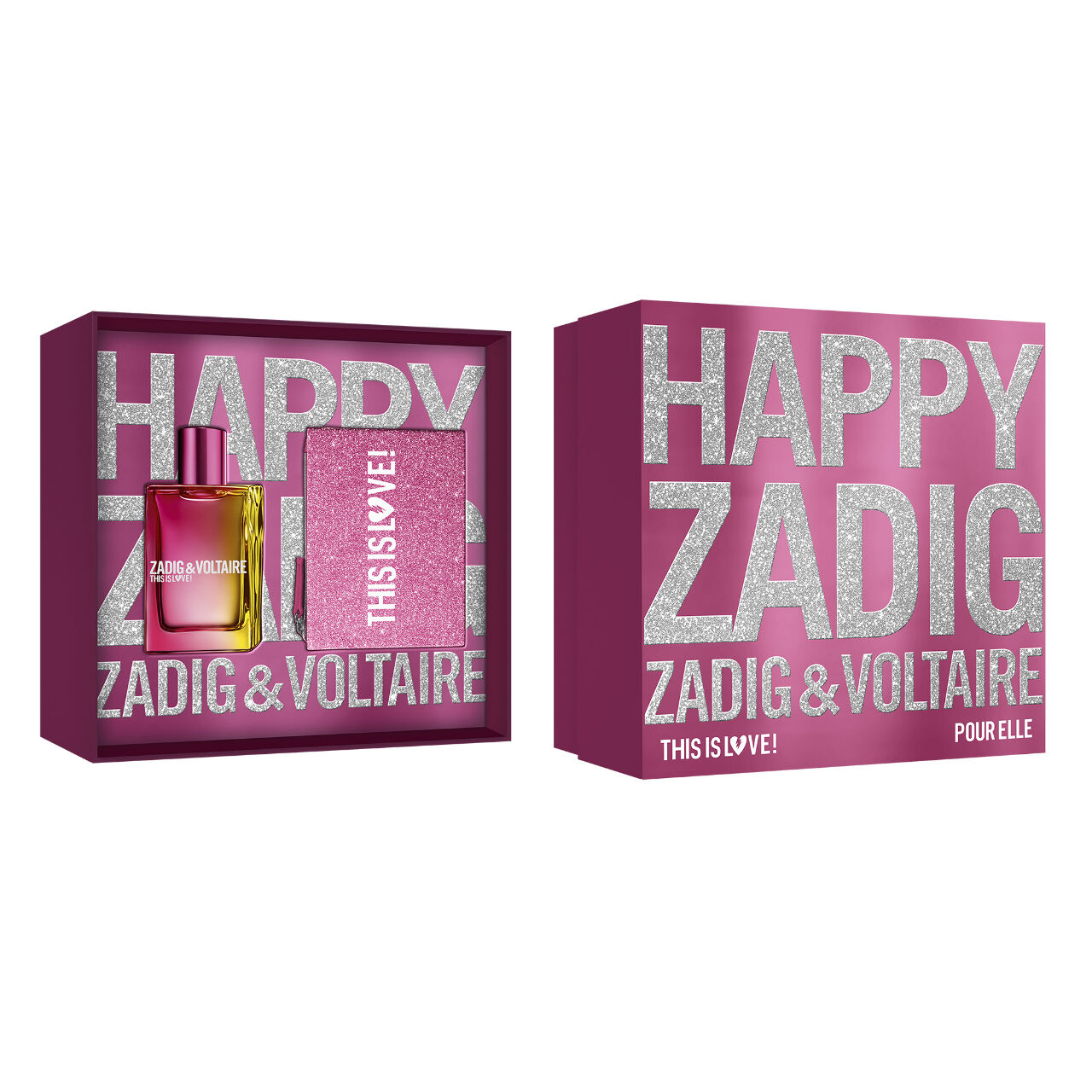 Zadig & Voltaire This is Love Elle Set EDP  50ml + Pouch